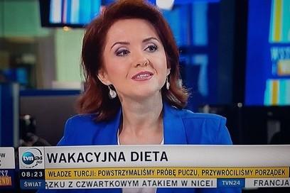 Monika Honory w TVN24