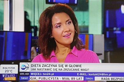 Odchudzanie zaczyna się głowie – wywiad dla TVN24