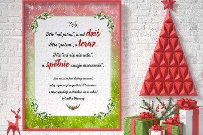 Świąteczny plakat motywacyjny do wydruku
