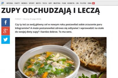 kobieta.interia.pl – Zupy odchudzają i leczą