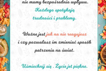Październikowy plakat motywacyjny do wydruku